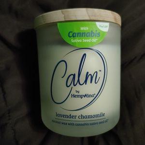 New Hempvana Calm Candle Lavender Chamomile